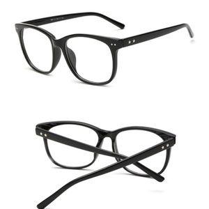 Black Clear Frame Lenses Glasses NWOT